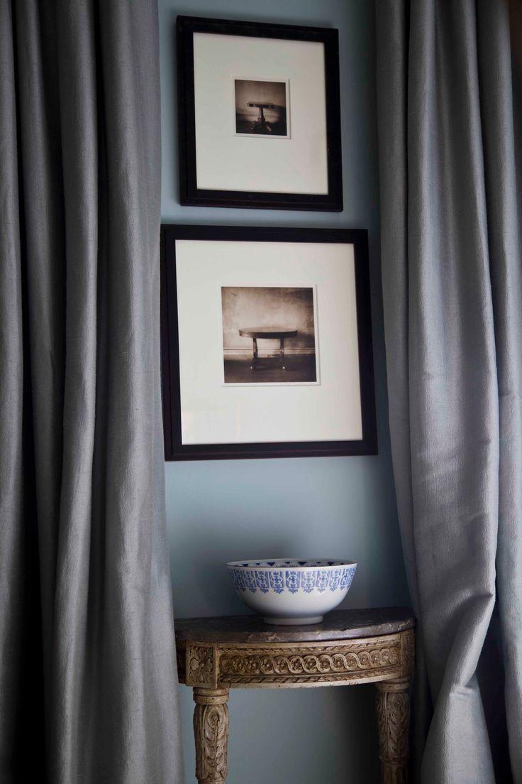 Art On Blue. Grey CurtainsTv ...