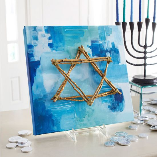 Star of David Art Piece: Make your own Hanukkah crafts or get the whole family involved with one of these 10 Hanukkah Crafts