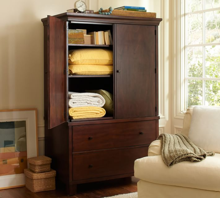 Pottery Barnu0027s Wardrobe Furniture And Armoires Provide Stylish, Practical  Storage. Armoires Can Function As A Wardrobe Or Entertainment Center.