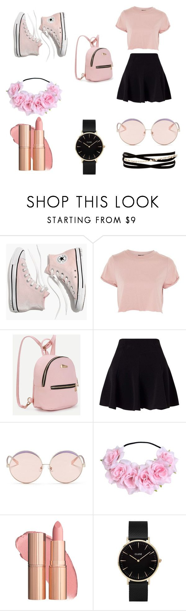 On Wednesdays We Wear Pink by cameronreeseevers on Polyvore featuring Topshop, Miss Selfridge, Madewell, CLUSE, Kenneth Jay Lane and N°21