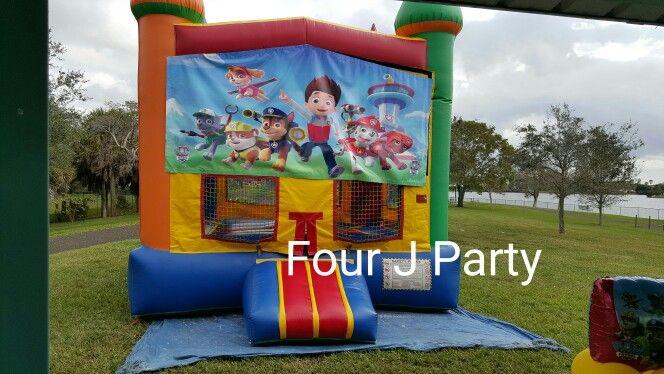 Rent Bounce House Paw Patrol www.fourjparty.com #fourjparty #babyshower #miami