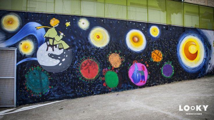Taller participatiu d'art urbà realitzat pels alumnes de 4t, 5è i 6è de primària de l'escola Mestre Morera, basat en el conte del Petit Príncep. http://lookyproduccions.com/video.php?id=76