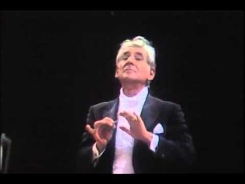 """Symphony No 40 in G minor"" (KV550) - Mozart; Leonard Bernstein (conductor), Boston Symphony Orchestra"