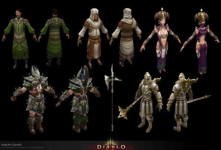ArtStation - D3 NPC, Aaron Gaines Diablo