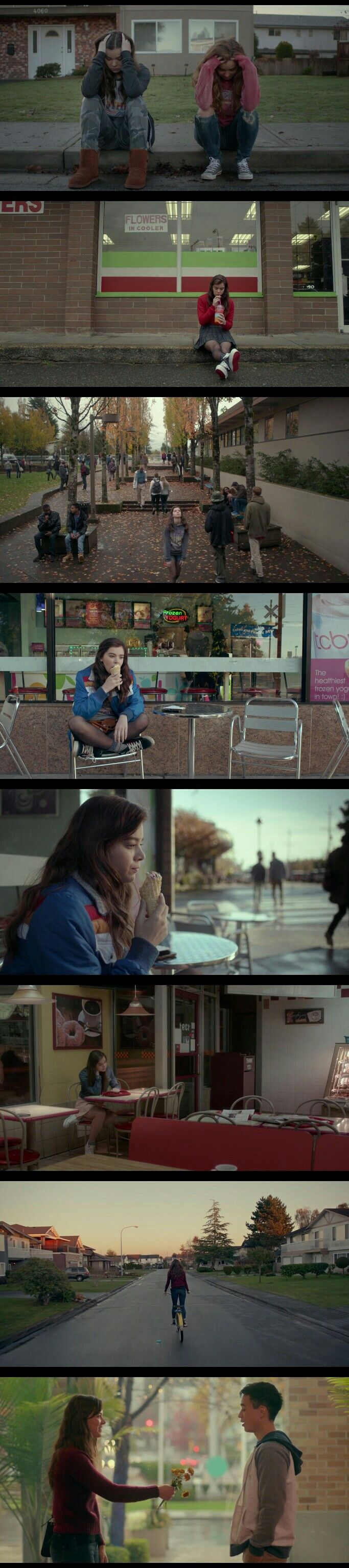 Hailee Steinfeld in The Edge of Seventeen as Seventeen years old high school girl Nadine Franklin.
