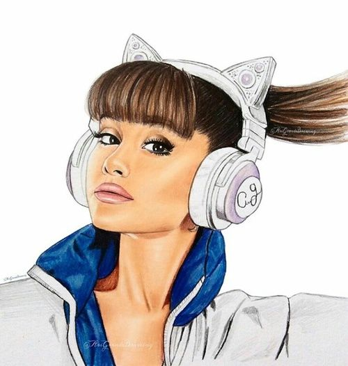 how to draw ariana grande easy for kids