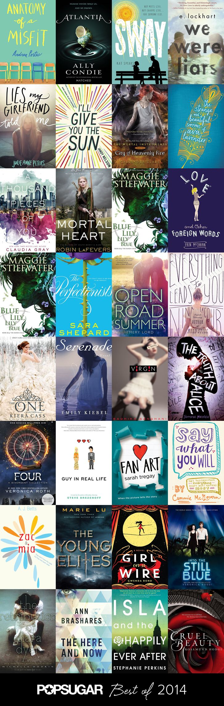 The Best YA Books of 2014. Ohmigosh ive read or want to read *almost* every one of these