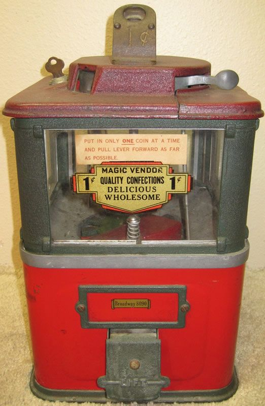 Machines Candy Vending Old