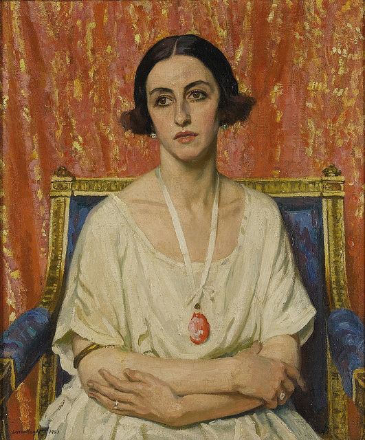 Laura Knight - Lubov Tchernicheva [1921].In 1919, Laura and Harold Knight moved to London, seeking new artistic challenges and markets for their work. For Laura, evenings spent watching the Ballets Russes during their London seasons at the Alhambra or Coliseum theatres provided 'complete satisfaction for every aesthetic sense'. Incorporating set and costume designs by artists including Henri Matisse, these productions helped introduce European modernism into Britain. However, unlike some…