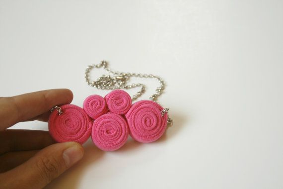 magenta kuklos necklace by ganbayo on Etsy