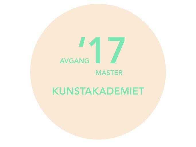 Velkommen til åpning av Avgangsutstillingen master i billedkunst 2017, fredag 26.mai, kl. 19.00-21.00 på Kunstnernes Hus. Utstillingen viser avgangsarbeidene til 19 studenter ved Kunstakademiet, Kunsthøgskolen i Oslo.