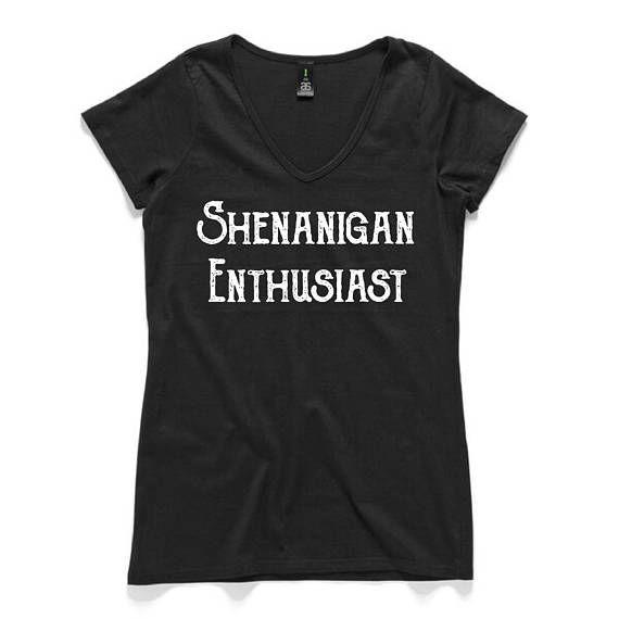 Shenanigan Enthusiast Fair Trade 100% Cotton Black Tee - Australian designed & printed