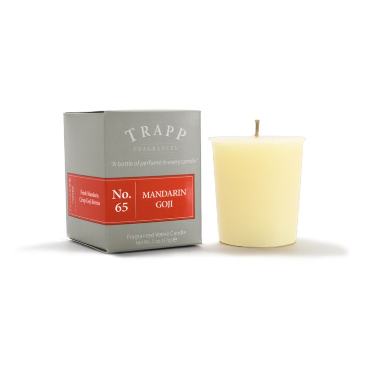 No 65 Mandarin Goji- 2oz Votive Candle | Trapp Candles