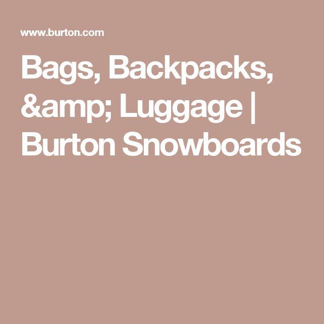 Bags, Backpacks, & Luggage | Burton Snowboards