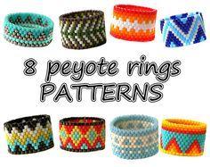 8 Peyote rings patterns Beaded rings von ColorfulBeadPatterns
