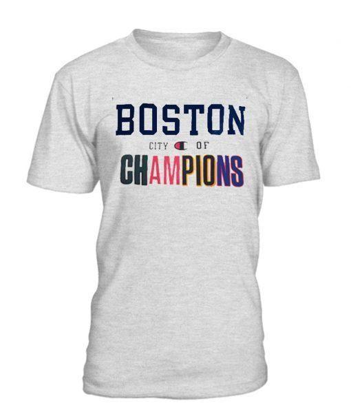 BOSTON City of Champion T Shirt | Stuff To Buy | Shirts, T
