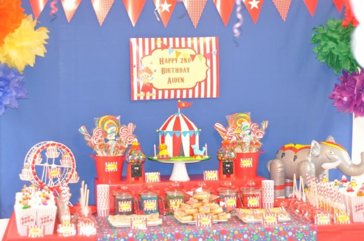 Circus Candy Buffet  #circus #party