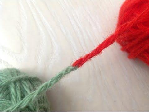 Как связать две нити без узла при вязании... Ну, очень остроумный способ!