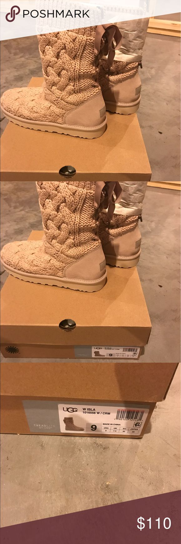 Women's UGG boots Brand new in box Women's UGG boots, authentic, size 9.  Cream color with lace up back.  Gorgeous! UGG Shoes Ankle Boots & Booties