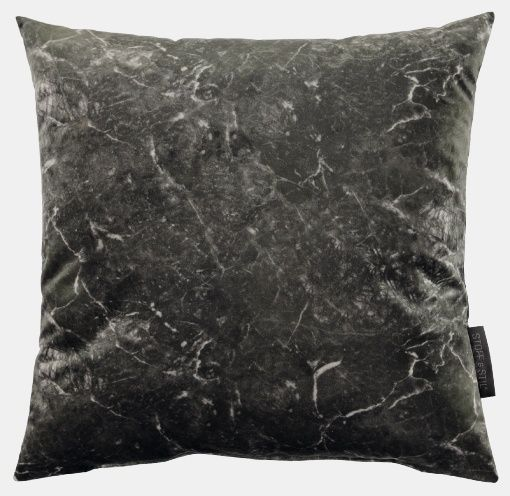 Pillow: velvet dark marble look for DIY projects