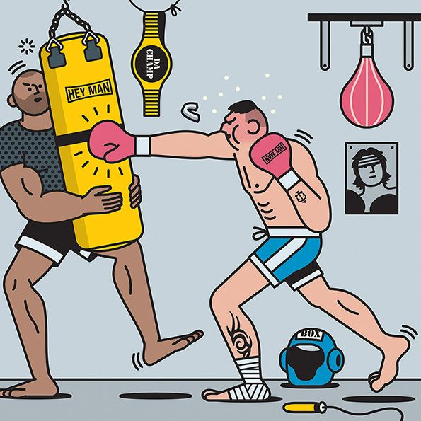 The people you can't avoid at the gym, by illustrator Rami Niemi.