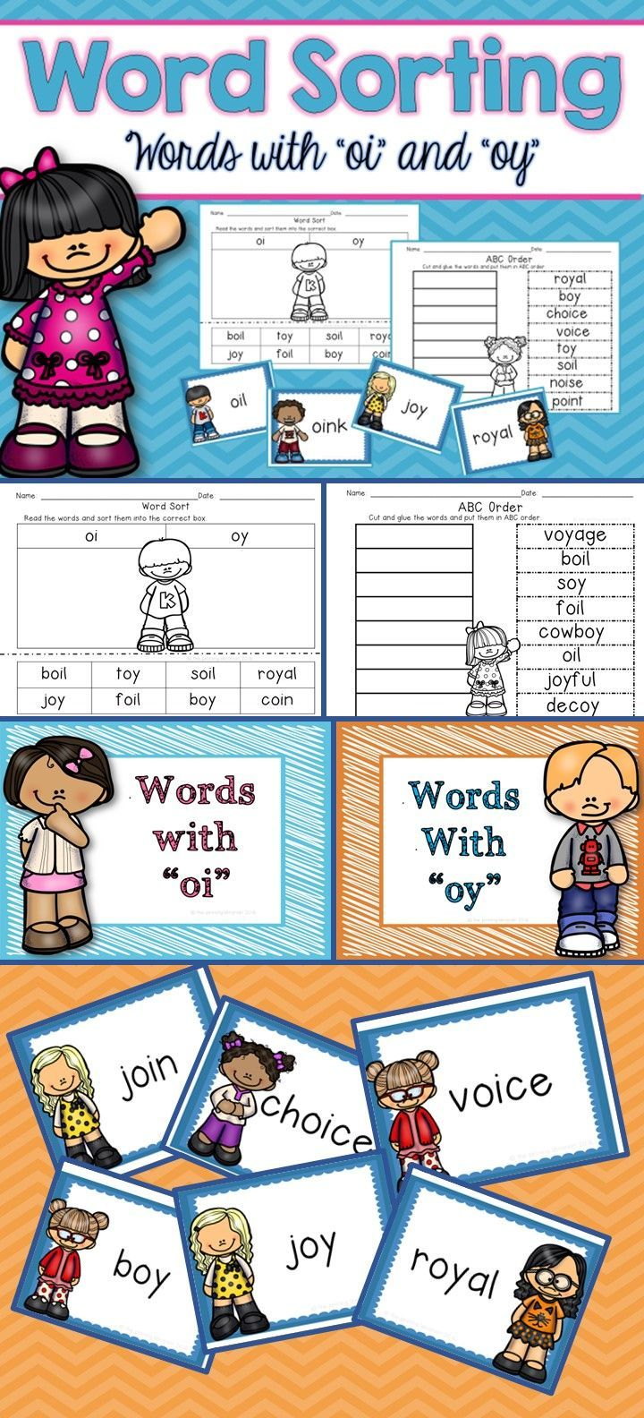 worksheet Words With Oi 1061 best images about phonics on pinterest cut and paste short are you teaching your students words with oi oy