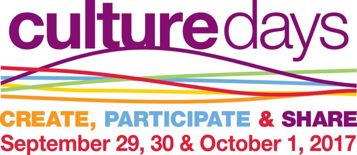 Image for @CultureDays  – September 29, 30 and October 1, 2017