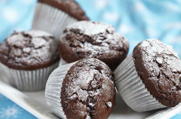 Duplacsokis, tejbegrízes muffin