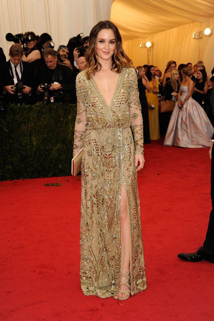 Leighton Meester in Emilio Pucci bei der Met Gala 2014 | Getty Images | blog.thek …   – Red Carpet Wedding Looks