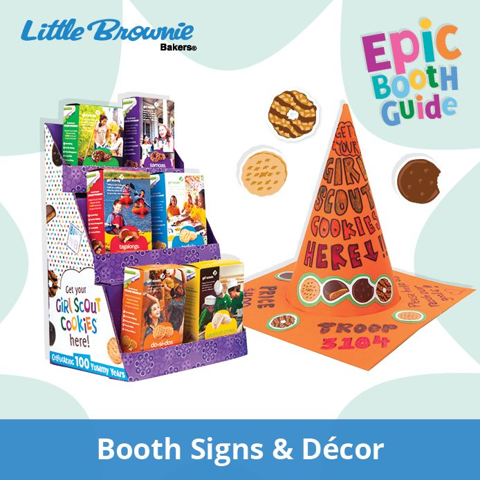 Power up your posters! Try some (or all!) of theses booth sign ideas at this year's cookie booths.