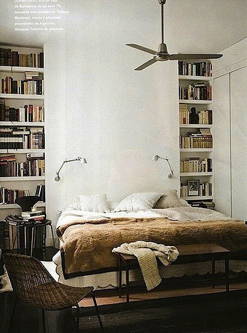 Wabi sabi scandinavia design art and diy textile for Bedroom bookshelves