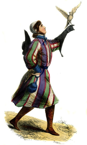"""German falconer - male costume of 13th century"""