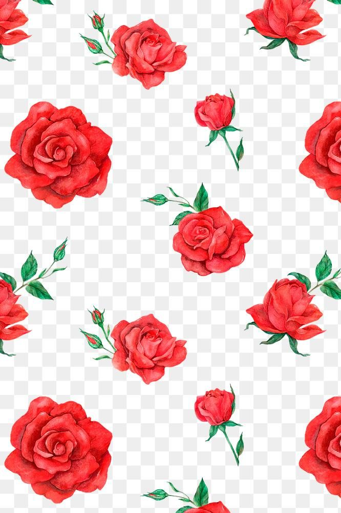 Red Rose Pattern Png Transparent Background Free Image By Rawpixel Com Boom Red Roses Background Red Roses Wallpaper Aesthetic Iphone Wallpaper