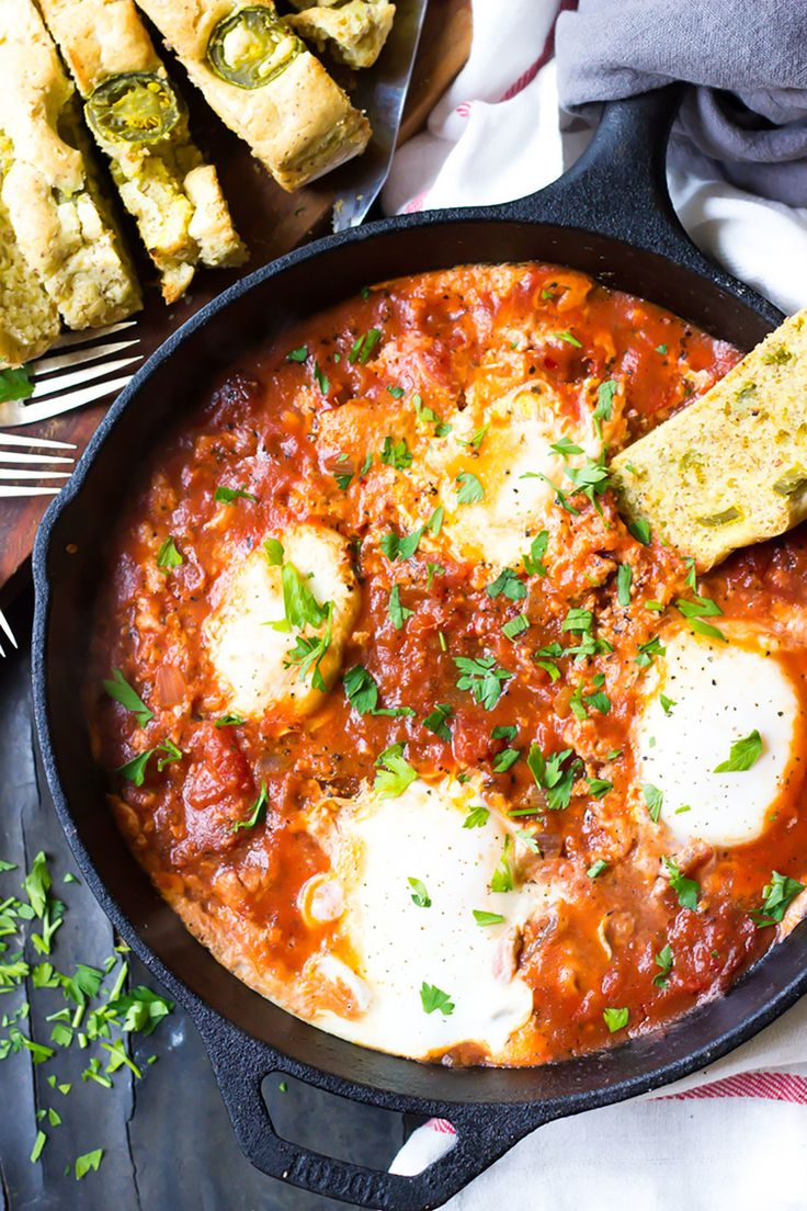 Whole30 Dinner Recipes: Paleo Eggs in Hell