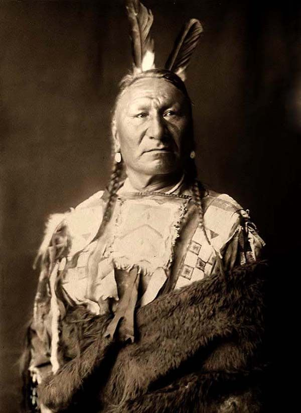 A rare image of Yellow Horse. It was taken in 1908 by Edward S. Curtis.    The image shows Yellow Horse in Traditional clothing.