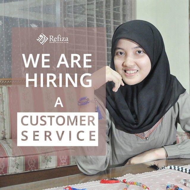 Kami membutuhkan segera staff Customer Service, dengan kualifikasi :  *Wanita  *Minimal Lulus SMA/K  *Usia 18 - 25 tahun  *Inisiatif, komunikatif, cepat tanggap, bertanggung jawab   Info lanjut kunjungi http://www.refiza.com/jobs/