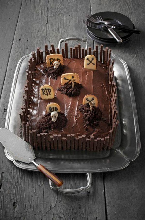 Grabkuchen / Dessert   – Einfache DIYs für Halloween