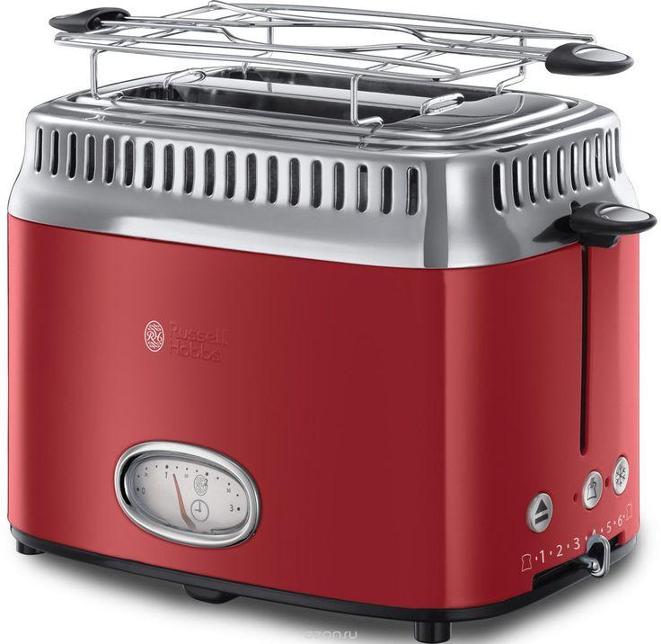 Russell Hobbs Retro, Ribbon Red тостер - купить в интернет-магазине по лучшей цене. Тостер с быстрой доставкой от OZON.ru - Выбирайте!