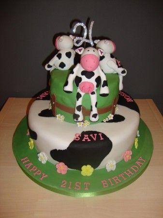 'Moo to you' I'd never of thought of a cow birthday cake, but here's one from Cakeology Ltd and it's great :-)
