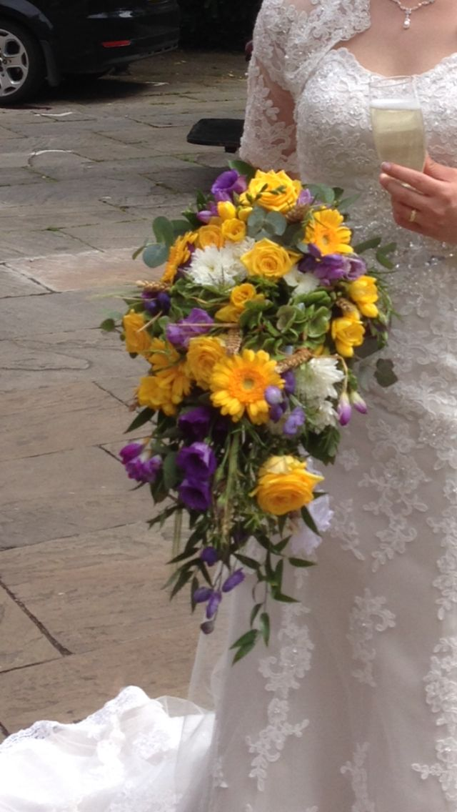 Wedding Bouquet Yellow & Purple
