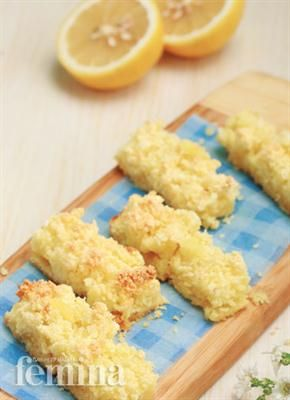 Lemon Coconut Slice Femina