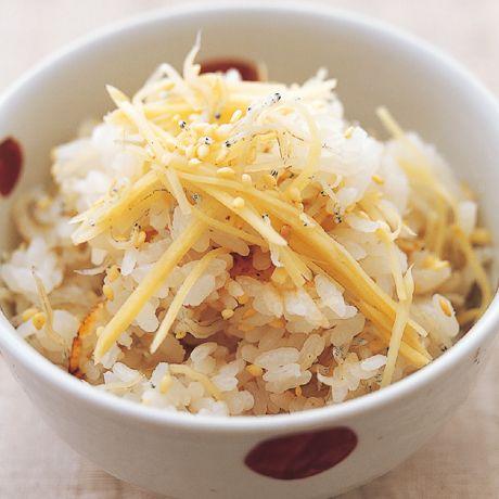 ちりめんじゃことしょうがの炊き込みご飯 | 藤井恵さんのごはんの料理レシピ | プロの簡単料理レシピはレタスクラブニュース