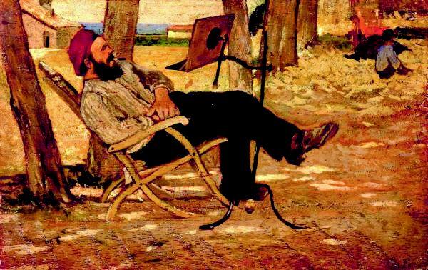 """Giovanni Fattori, """"Diego Martelli a Castiglioncello"""", 1875."""