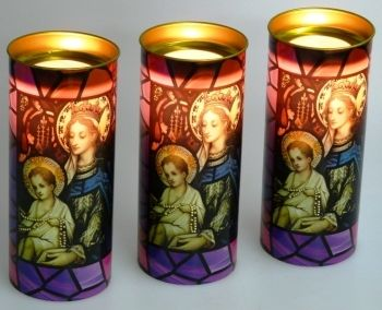 Maria en Jezus Devotiekaars - De Vrolijke Engel