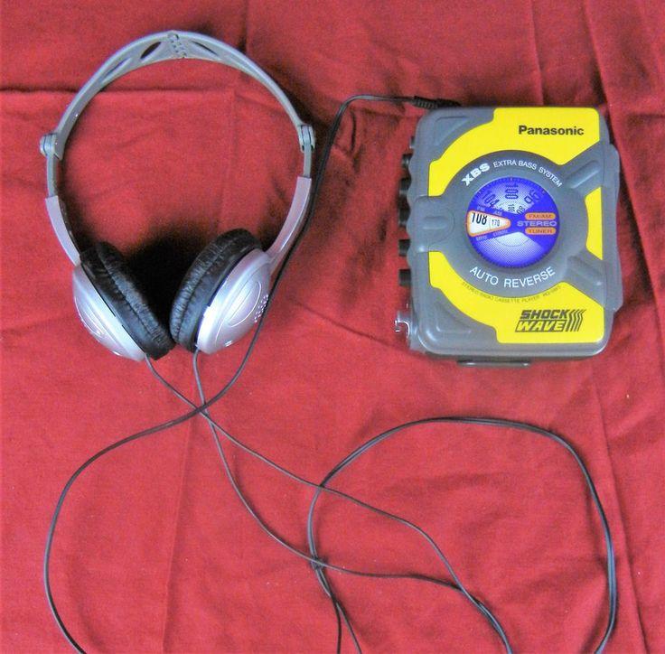 Panasonic Shock Wave RQ-SW5 XBS AM/FM Stereo Radio Cassette Player Walkman #Panasonic