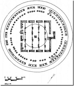 Drawing (floor plan) of the mosque at Dingueraye, Guinea, West Africa. (Drawing by Latif Abdulmalik)