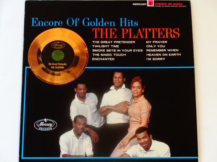 "The Platters - Encore of Golden Hits - ""Smoke Gets In Your Eyes"" - ""My Prayer"" - Mercury Records 1976 Re-Issue - Vintage Vinyl Record Album by notesfromtheattic on Etsy"