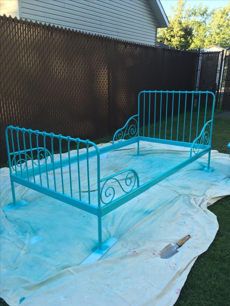 Minnen Bed From Ikea Spray Paint Ikea Kids Bed Kids Rooms Inspo