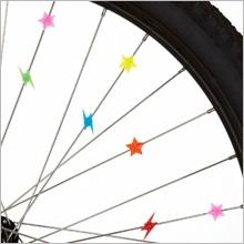 Smatterpärlor till cykeln, formade som stjärnor och blixtar