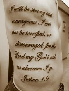 joshua 1:9 tattoo - Google Search